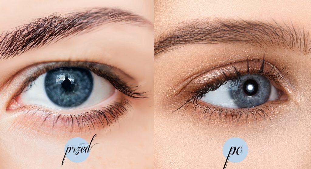 Nanolash efekty przed i po kuracji